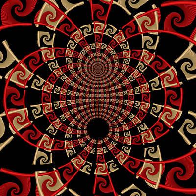 Organic Digital Art - Roulette Sunset by David April