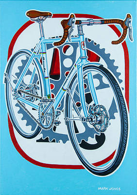 Painting - Rourke Bicycle by Mark Howard Jones