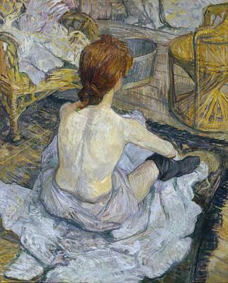 Seated Painting - Rousse by Henri de Toulouse-Lautrec