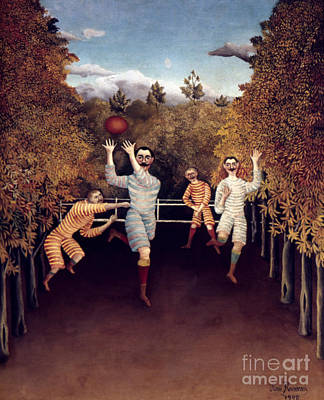 Rousseau: Football, 1908 Print by Granger