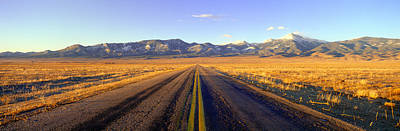 Route 50, Road To Great Basin National Print by Panoramic Images