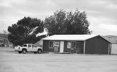 Route 66 - Bert's Country Dancing Bw Print by Frank Romeo
