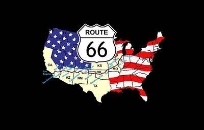Route 66 Print by Carol and Mike Werner