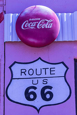 Route 66 Coca Cola Sign Print by Garry Gay