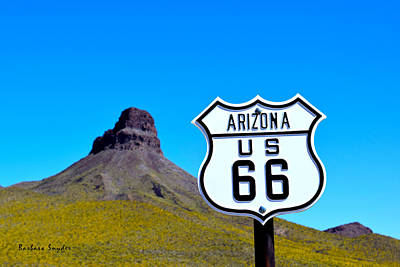 Kicked Painting - Route 66 To Oatman Arizona by Barbara Snyder