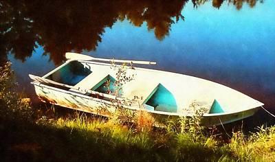 Oars Digital Art - Row Boat by Frank Wilson
