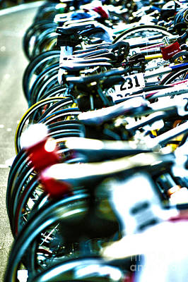 Bike Races Photograph - Row Of Race Bikes 5 by Micah May