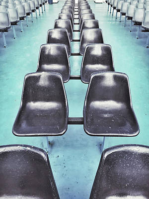 Empty Chairs Photograph - Row Of Seats  by Tom Gowanlock