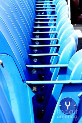 Yankee Stadium Bleachers Photograph - Row Of Stadium Seats by Nishanth Gopinathan