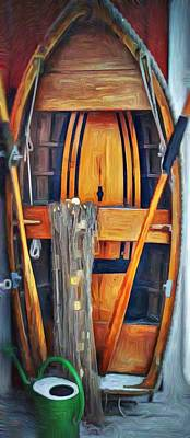Rowboat Mixed Media - Rowboat Standing Time by Jeffrey Canha
