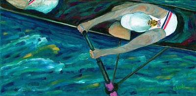 Scull Painting - Rower by Bev Veals