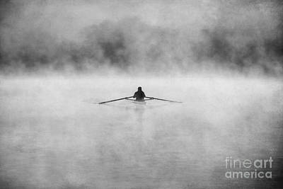 Rowing On The Chattahoochee Print by Darren Fisher
