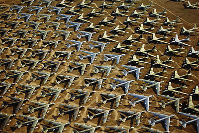 Airfield Photograph - Rows Of B-52s Tucson Az by Panoramic Images