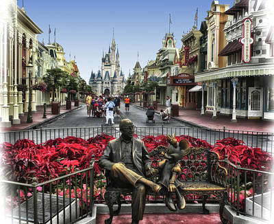 Magician Photograph - Roy And Minnie Mouse Walt Disney World Mp by Thomas Woolworth