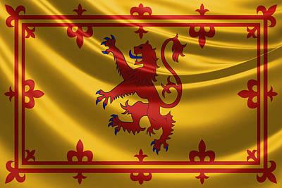 Royal Banner Of The Royal Arms Of Scotland Original by Serge Averbukh