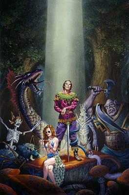 Royal Chaos Print by Richard Hescox