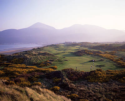Linked Photograph - Royal Co. Down Golf Course Overlooked by Chris Hill