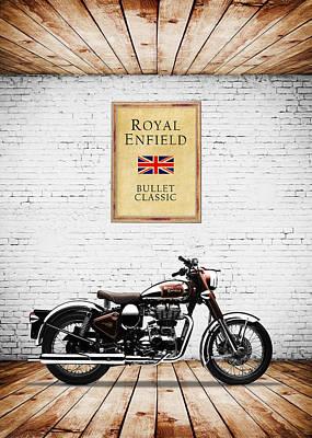 Royal Enfield Classic C5 Print by Mark Rogan