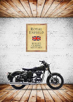 Royal Enfield Classic Military Print by Mark Rogan