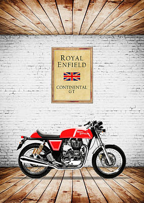 Cafes Photograph - Royal Enfield Continental Gt by Mark Rogan