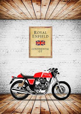 Royal Photograph - Royal Enfield Continental Gt by Mark Rogan