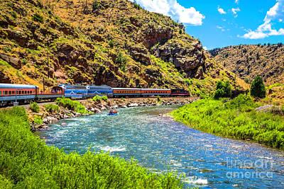 Royal Gorge Railroad Print by Jon Burch Photography