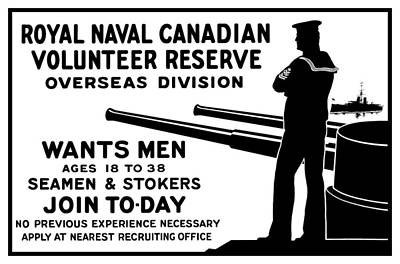 Patriotic Mixed Media - Royal Naval Canadian Volunteer Reserve by War Is Hell Store