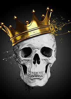King Mixed Media - Royal Skull by Nicklas Gustafsson