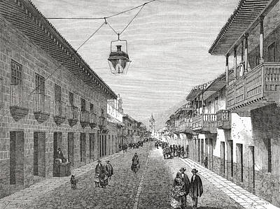 Capital Cities Drawing - Royal Street, Bogota,columbia, South by Vintage Design Pics