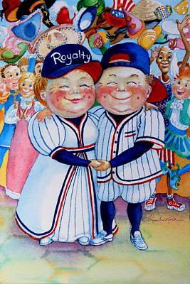 Baseball Cap Painting - Royalty by Hanne Lore Koehler