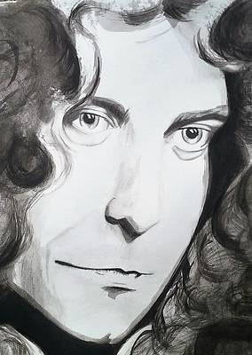 Robert Plant Drawing - RP by Kat Janes