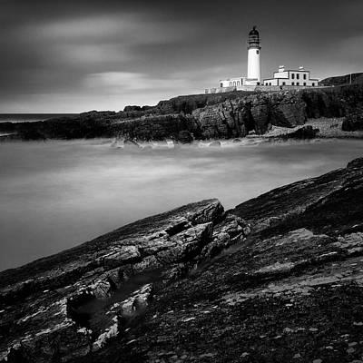 Rua Reidh Lighthouse Print by Dave Bowman
