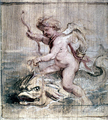 Rubens: Cupid On Dolphin Print by Granger