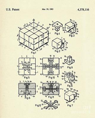 Rubiks Cube Painting - Rubik Cube-1983 by Pablo Romero