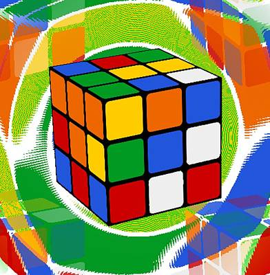 Rubik's Cube 2 Print by Chris Butler
