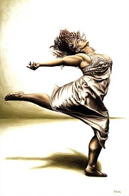 Ballerina Painting - Rubinesque Dancer by Richard Young