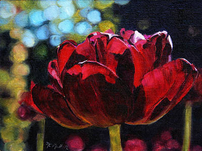 Spring Bulbs Painting - Ruby Awakening by Christy Mullen