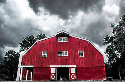 Alabama Photograph - Red Barn by Shelby  Young