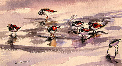 Painting - Ruddy Turnstone Sandpipers by Julianne Felton
