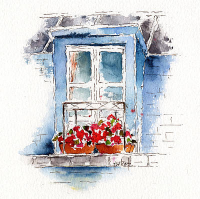 Boxes Painting - Rue Bernardine Window by Pat Katz