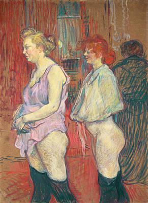 Lady Painting - Rue Des Moulins by Henri de Toulouse-Lautrec