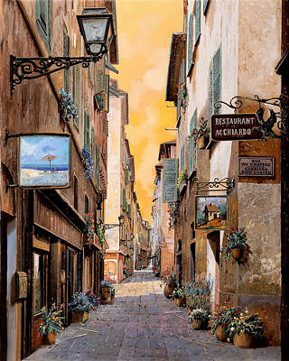 Nice Painting - Rue Droite Nice  by Guido Borelli