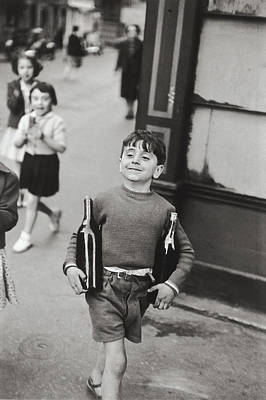 France Photograph - Rue Mouffetard By H. Cartier Bresson by Hans Wolfgang Muller Leg