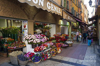 Storefront Photograph - Rue Pairoliere In Nice by Elena Elisseeva