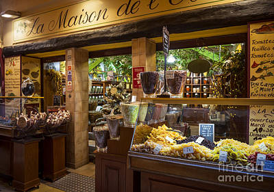 Storefront Photograph - Rue Pairoliere In Nice France by Elena Elisseeva