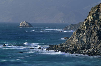 Rugged Coastline - Highway One Print by Soli Deo Gloria Wilderness And Wildlife Photography