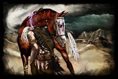Apocalyptic Digital Art - Ruined Empires - Skin Horse  by Mandem