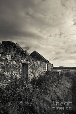 Islay Photograph - Ruined House On Islay, Scotland by Diane Diederich