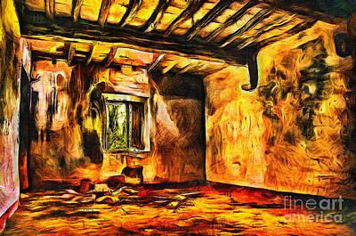 Ruined Room Print by Milan Karadzic