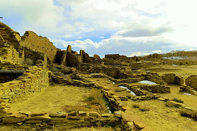 Ruins In Chaco Canyon  Print by Jeff Swan